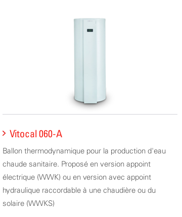 Ballon thermodynamique Viessmann Vitocal 060A